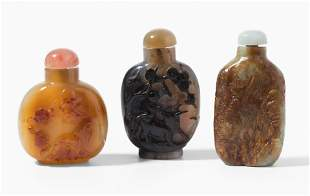 Lot: 3 Snuff Bottles