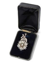 Diamant-Anhänger-/Brosche