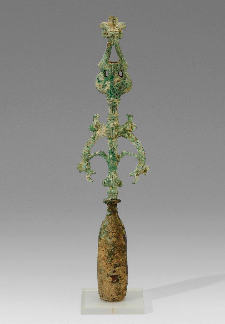 Standarte Luristan, 1000–650 v. Chr. Bronze. Aufsatz