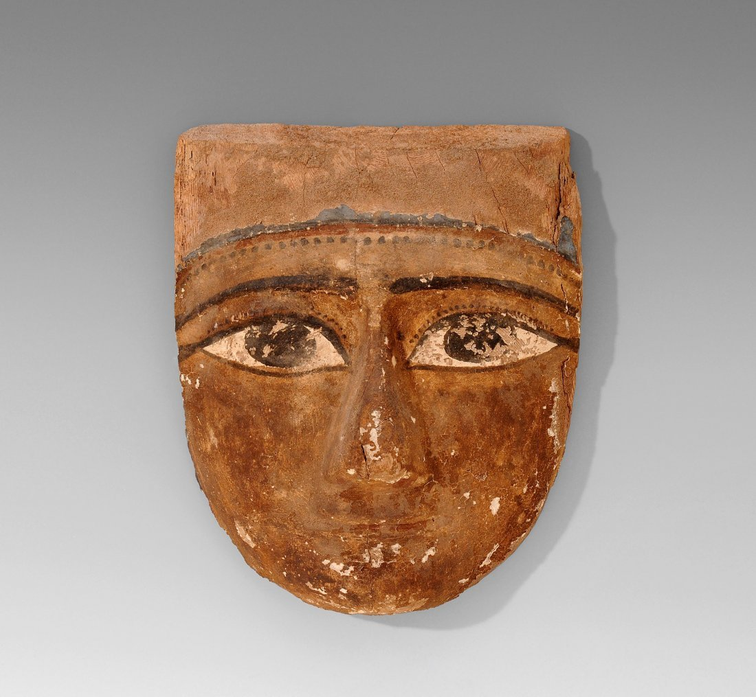 Mumienmaske Ägypten, Spätzeit, ca. 3.Jh. v. Chr. Holz