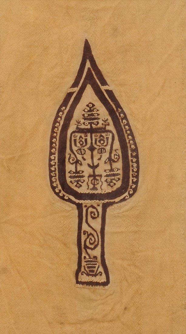 Textilfragment Ägypten, koptisch. Braune und weisse