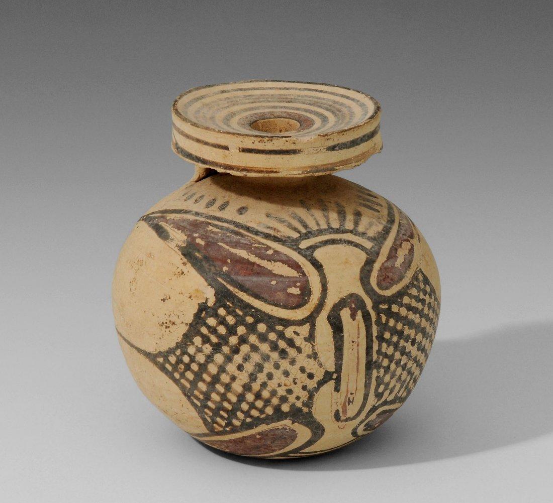 Aryballos Korinthisch, um 600 v. Chr. Heller Ton mit