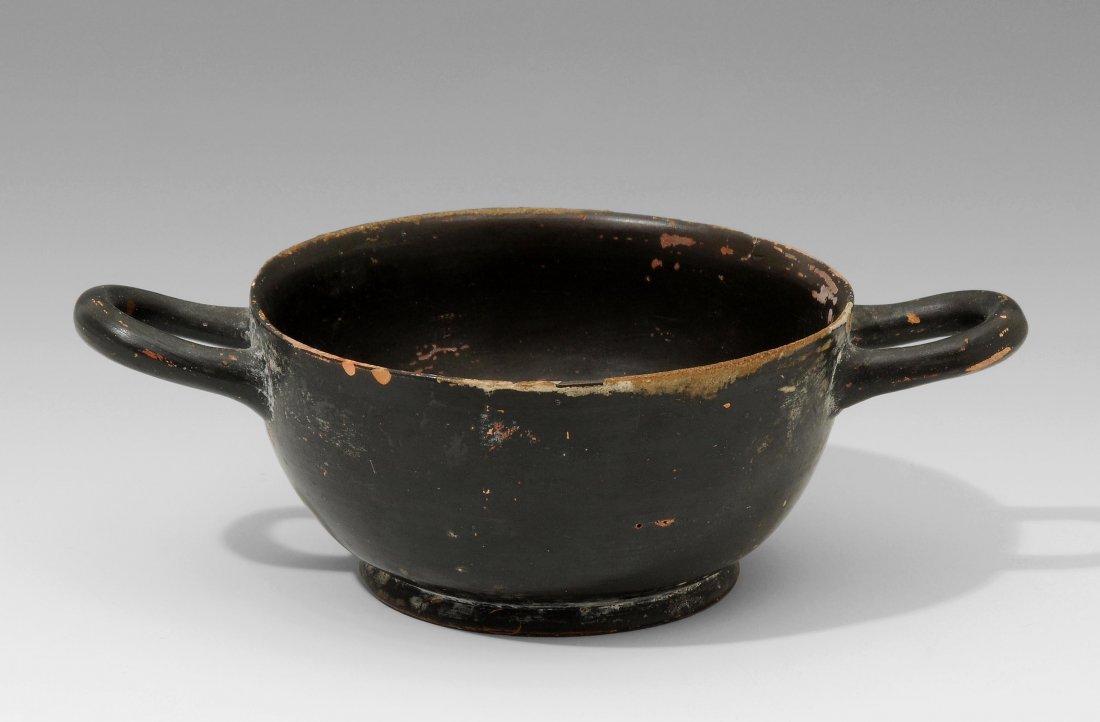 Skyphos Griechisch, 6–4.Jh. v. Chr. Ton mit schwarzem