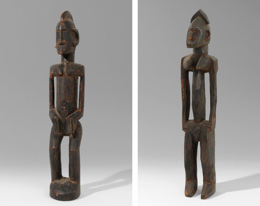1 Paar Figuren Mali, Bamana/Dogon. Holz, schwarzbraune,