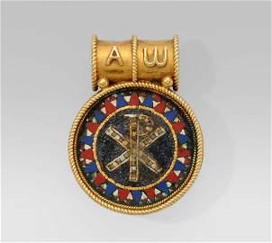 * Castellani Bulla-Anhänger Italien, um 1860. 750