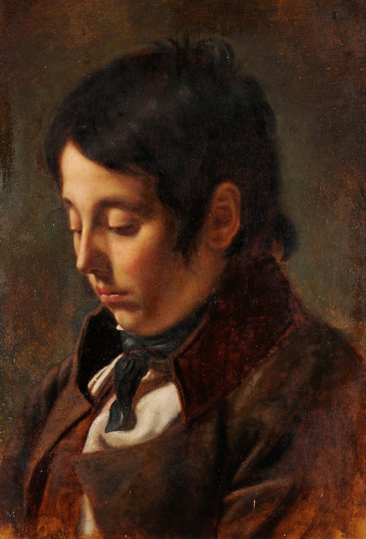"""Gleyre, Charles (Chevilly 1806–1874 Paris) """"Jeune homme"""