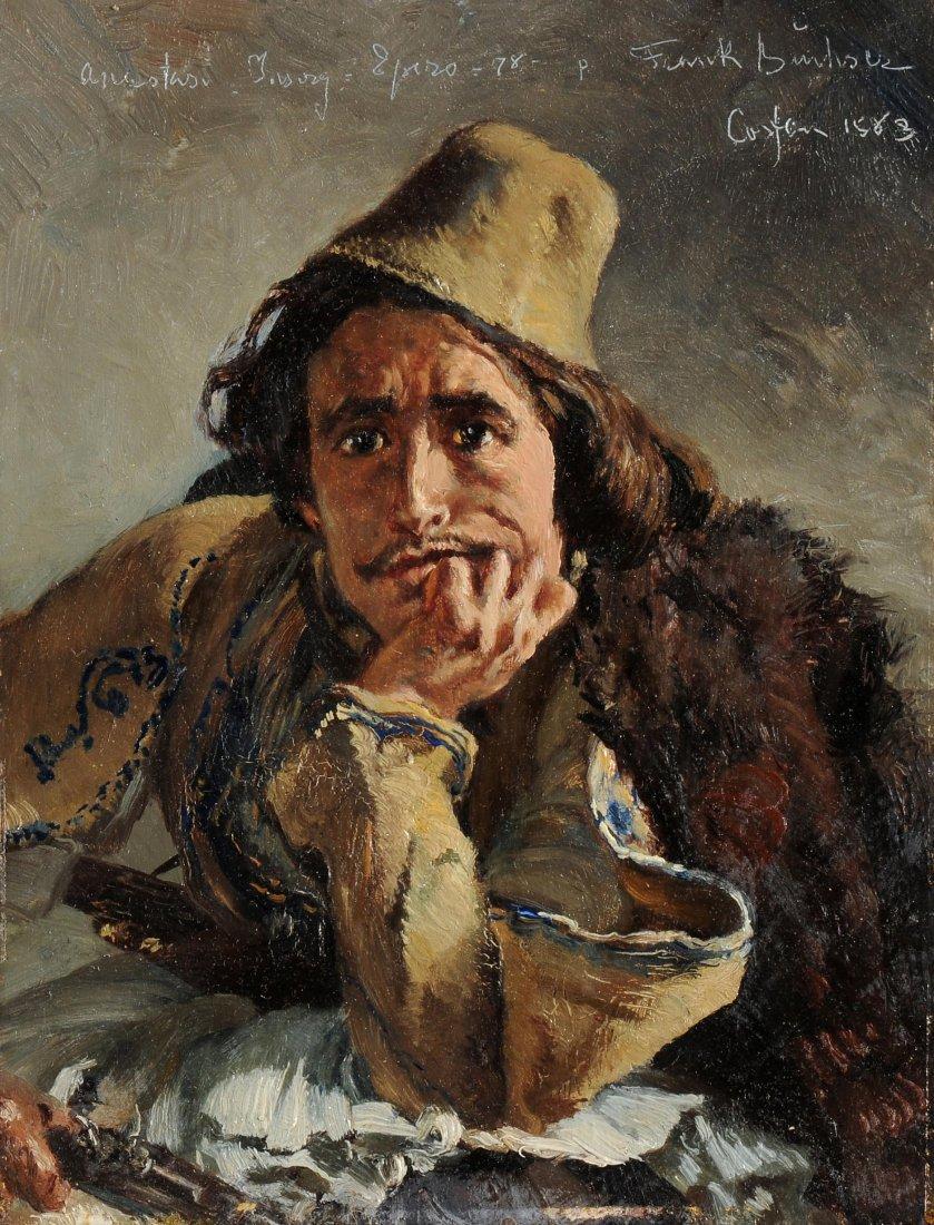 Buchser, Frank (1828 Feldbrunnen 1890) Portrait eines