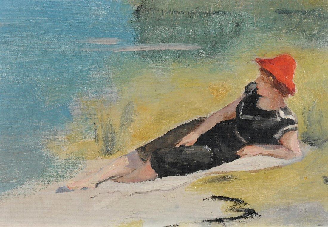 Dufaux, Frédéric (1852 Genf 1943) Badende mit rotem
