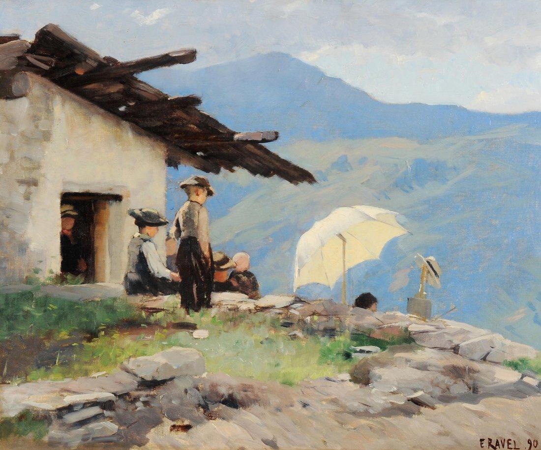 Ravel, Edouard (Versoix 1847–1920 Genf) Le Peintre dans