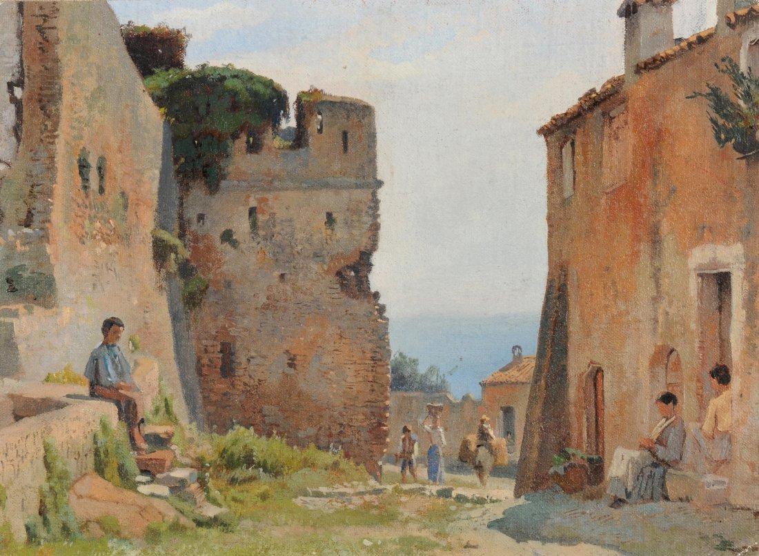 "Dunant-Vallier, Jean Marc (1818 Genf 1888) ""San Remo""."