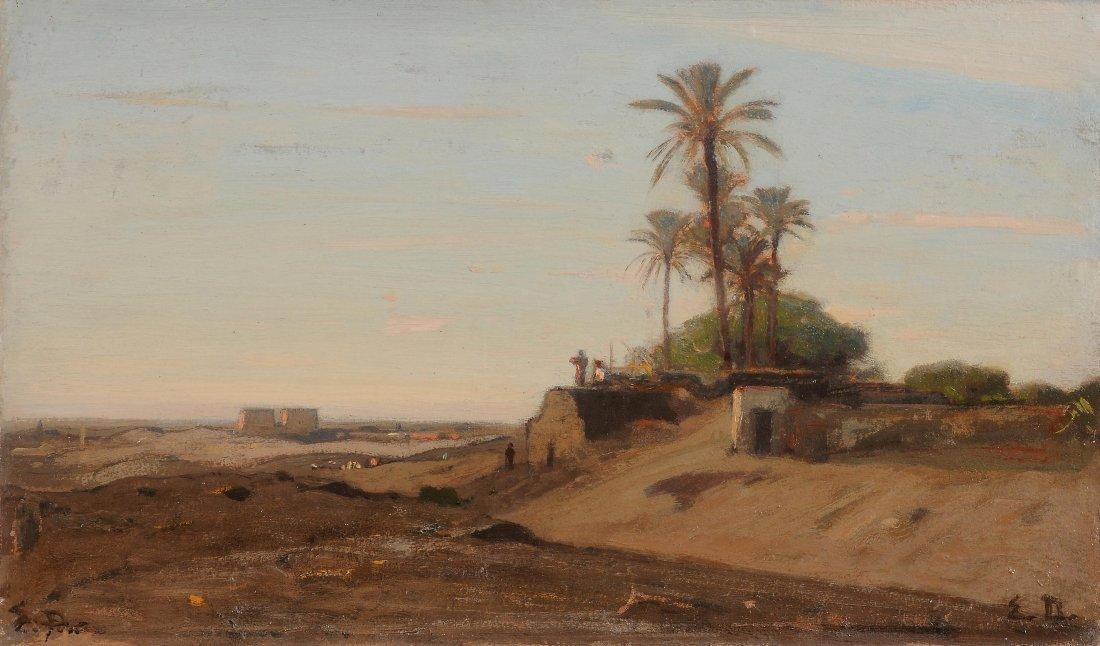Duval, Etienne (1824 Genf 1914) Landschaft bei Luxor,