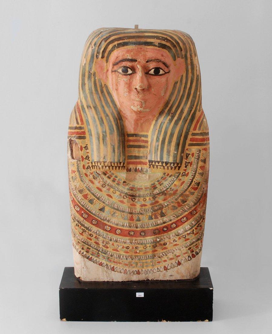 Oberteil eines Sarkophag-Deckels Ptolemäisch-römische