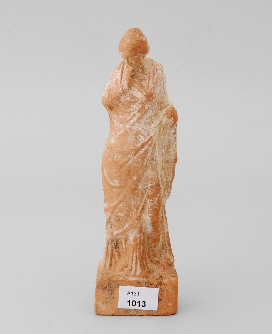 Tanagra Figur Boötisch, 3.–1.Jh. v. Chr. Rötlicher