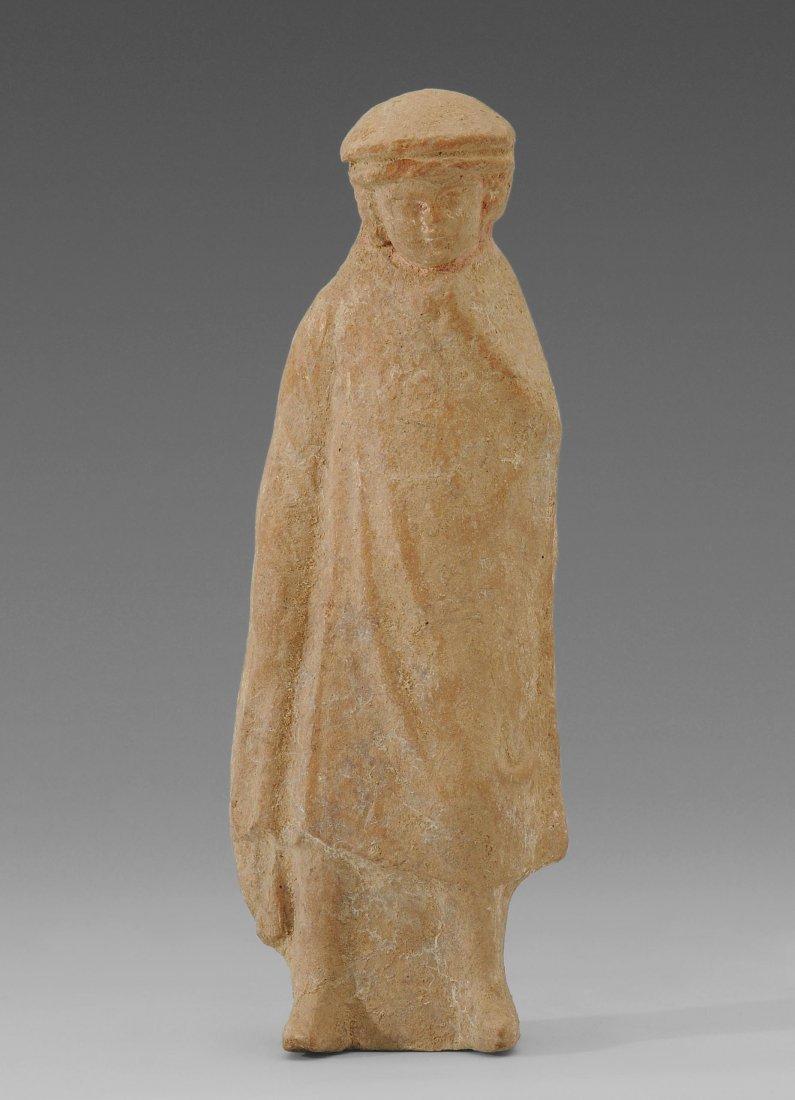 Tanagra Figur Boötisch, 3.–1.Jh. v. Chr. Ton.