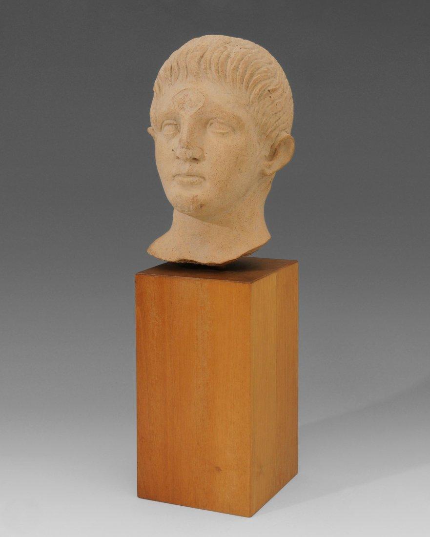 Männlicher Kopf Etruskisch, 3.–2.Jh. v. Chr. Ton.