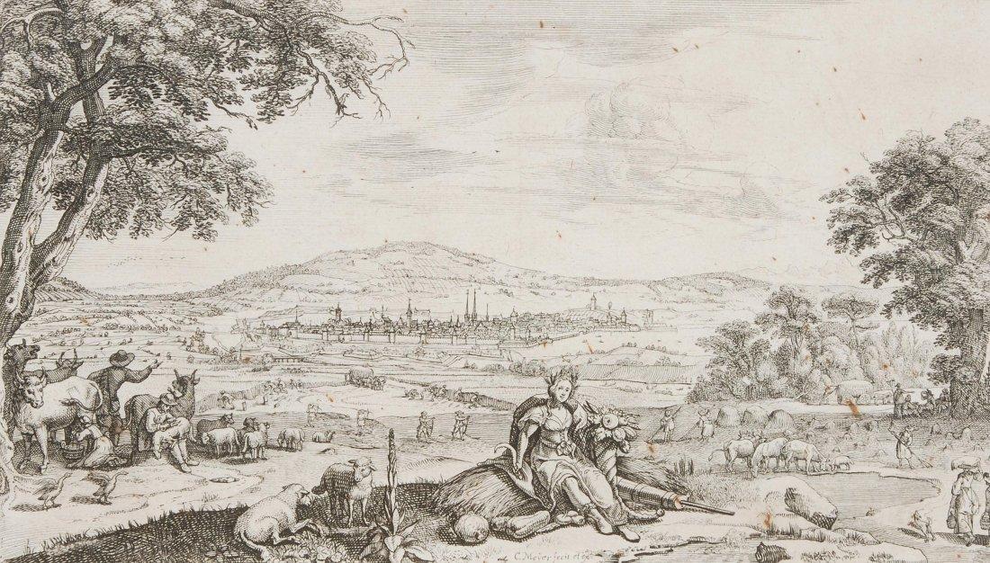 Meyer, Conrad (1618 Zürich 1689) Zürich. Vier