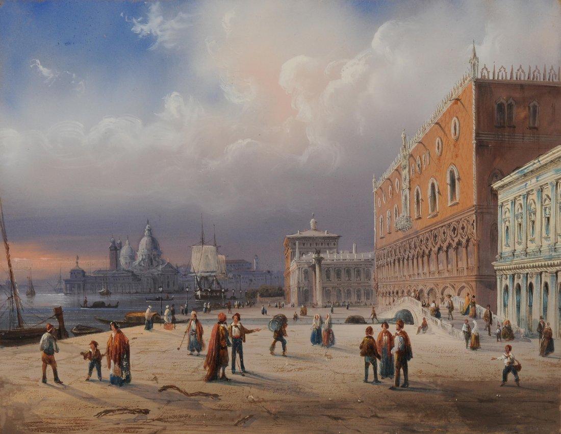 Bossoli, Carlo (Lugano 1815–1884 Turin) Venedig: Am