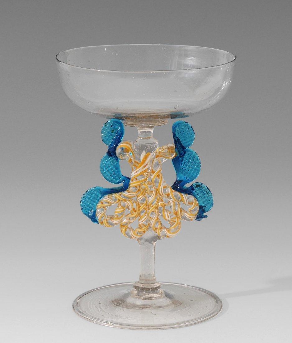 """Flügelglas, """"Façon de Venise"""", 19.Jh.  Farbloses"""