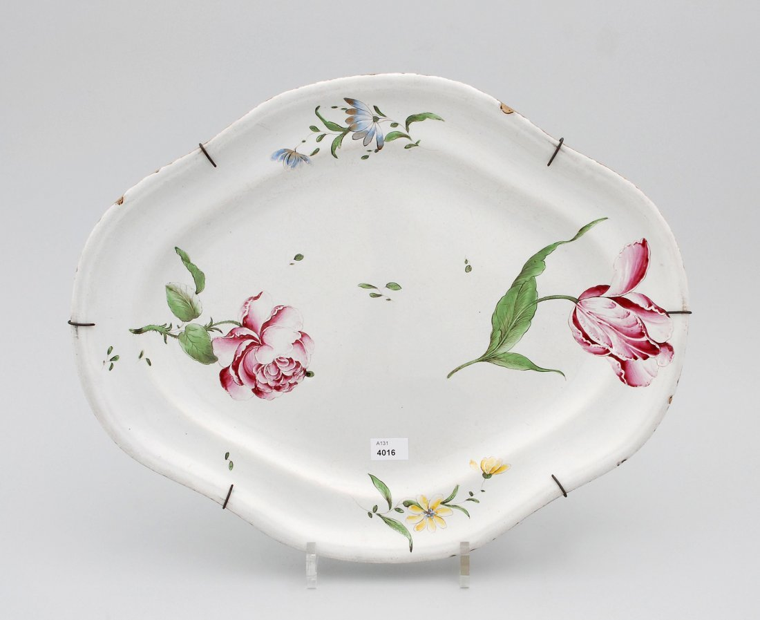 Platte, Joseph Hannong, Strassburg, um 1770 Fayence,