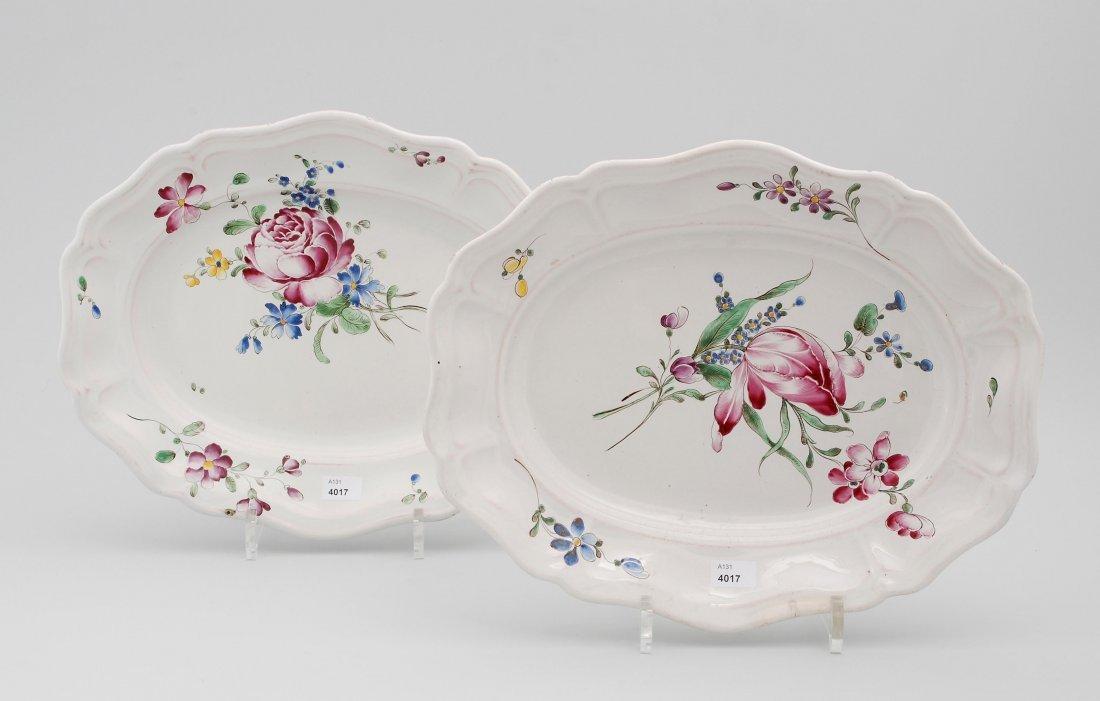 1 Paar Platten, Joseph Hannong, Strassburg, um 1770