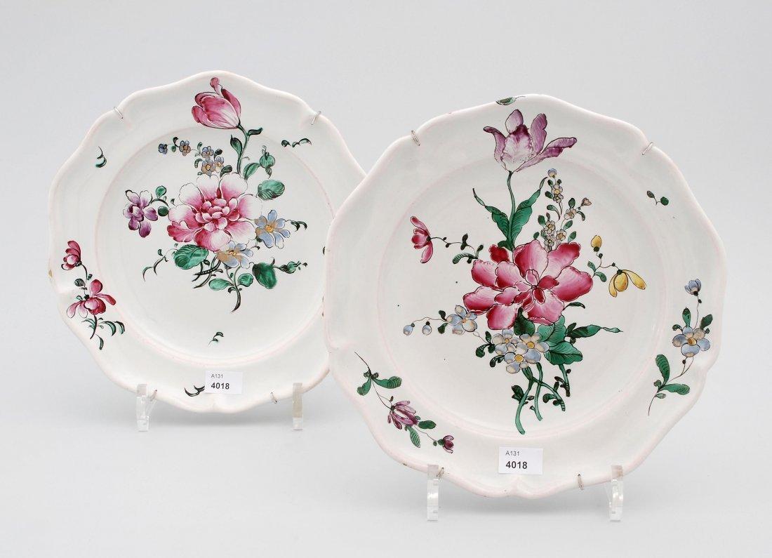 1 Paar Teller, Joseph Hannong, Strassburg, um 1770