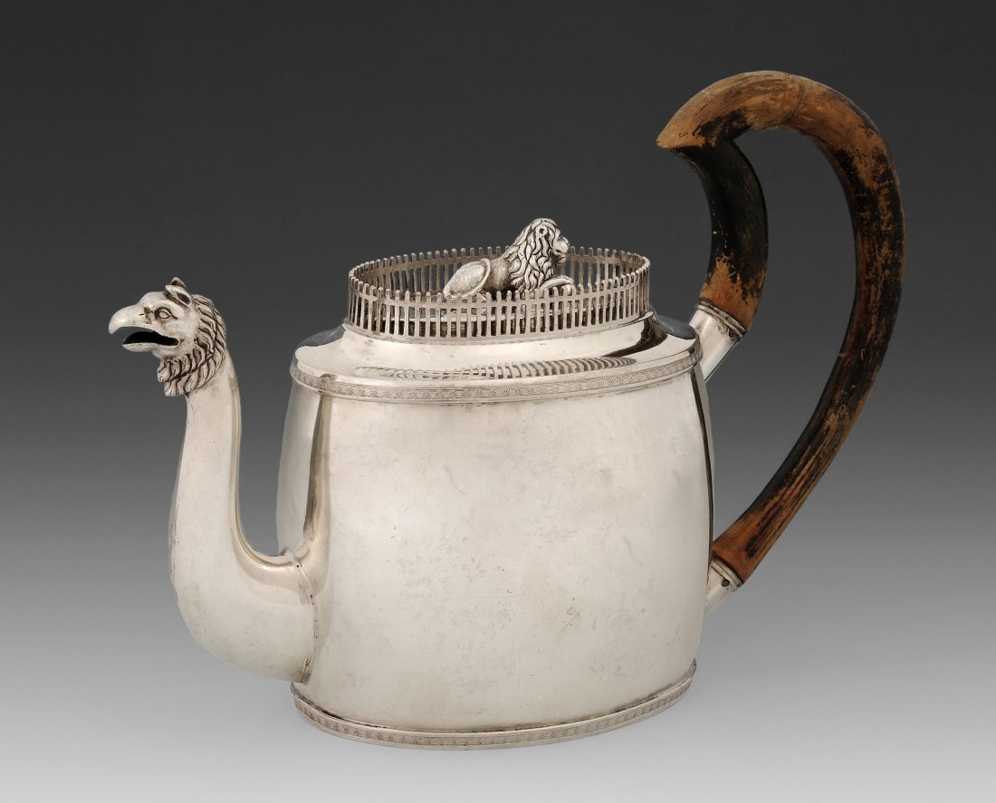 Stuttgarter Teekanne Um 1810/15. Meistermarke Carl