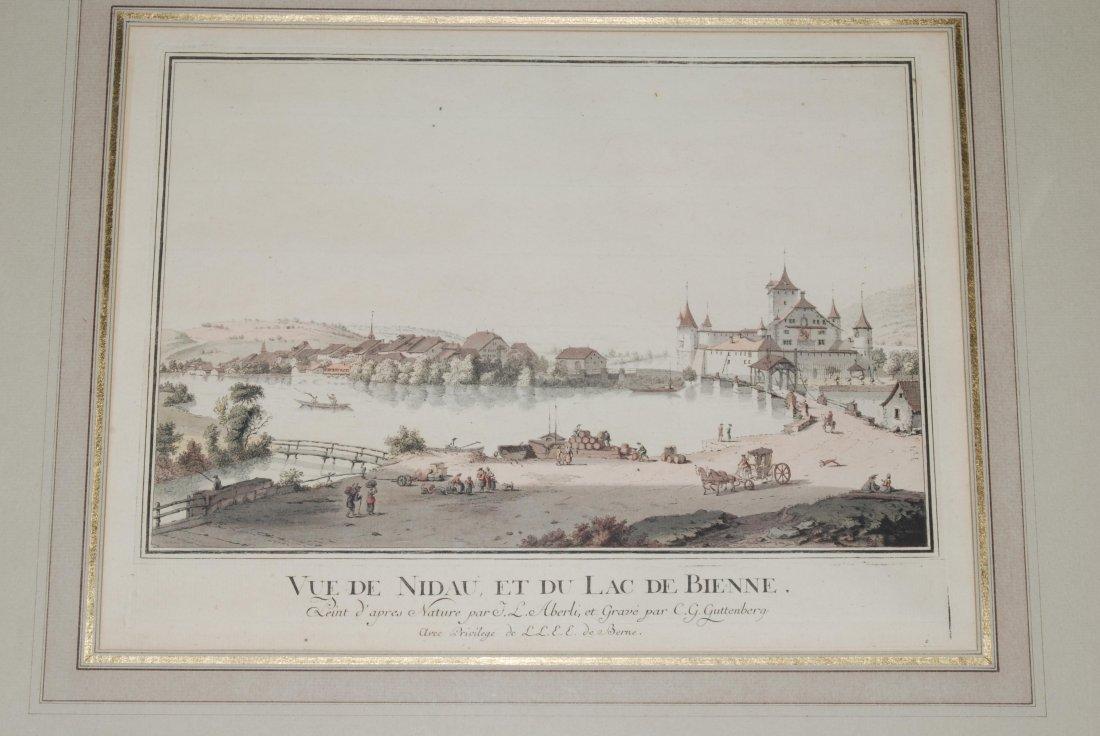 Nidau Vue de Nidau, et du Lac de Bienne. Kol.