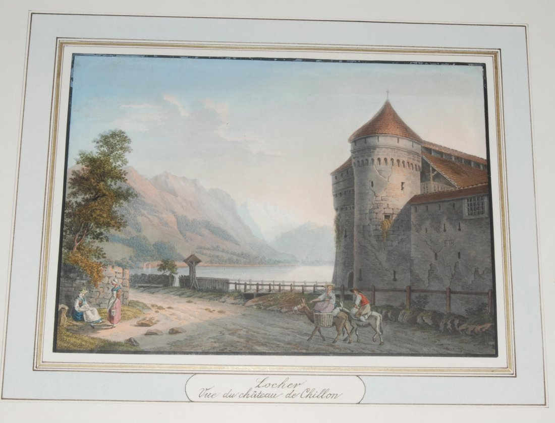 Schloss Chillon Vue du château de Chillon. Kol.