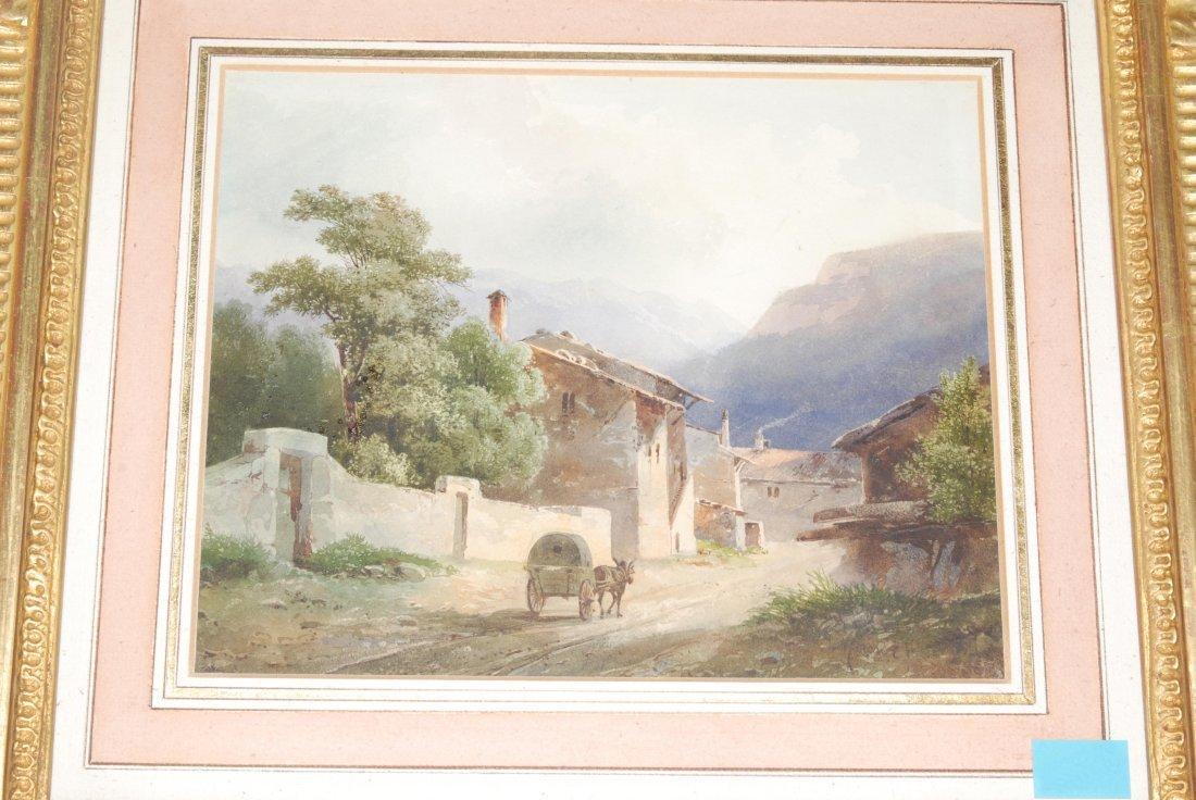 Anonym, 2.Hälfte 19.Jh. In einem Walliser Dorf.