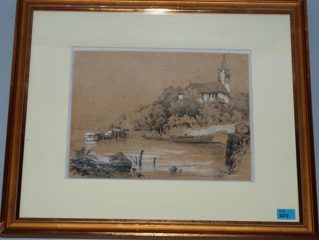 *Calame, Alexandre (Vevey 1810–1864 Menton) Blick auf