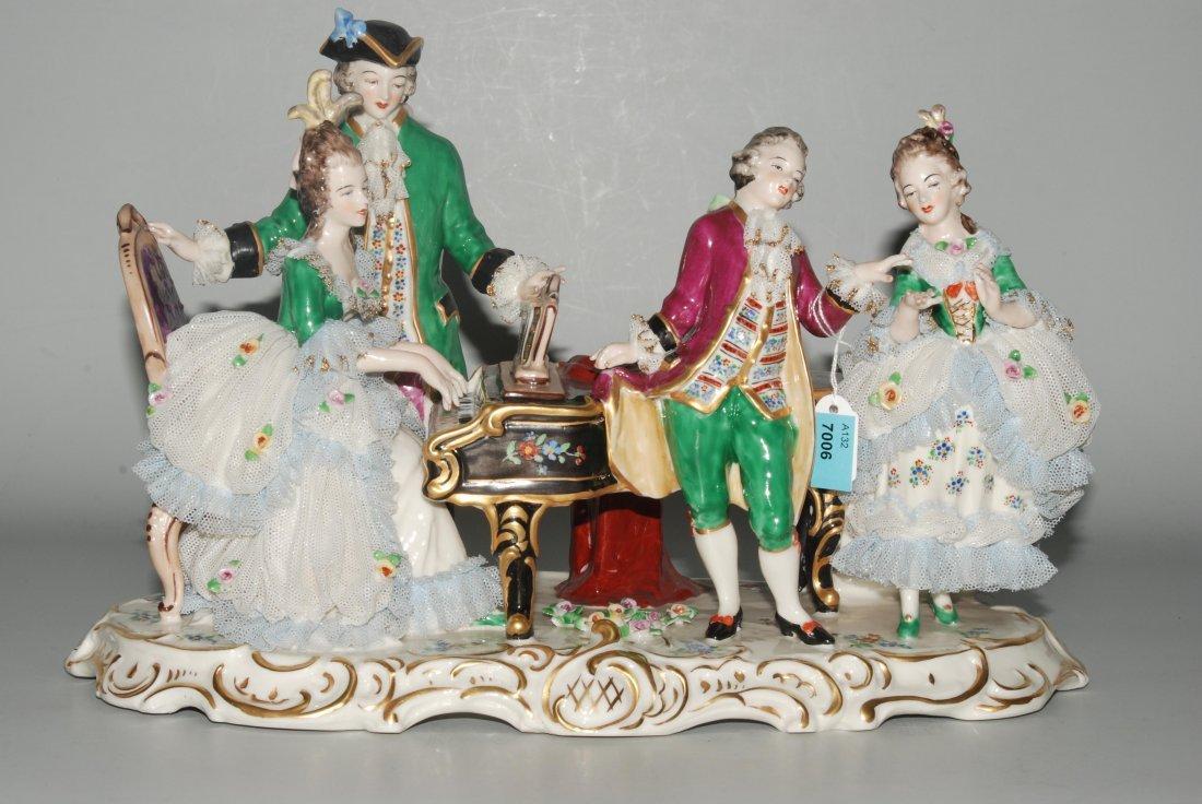 Figurengruppe: Musizierende Gesellschaft, Deutschland,
