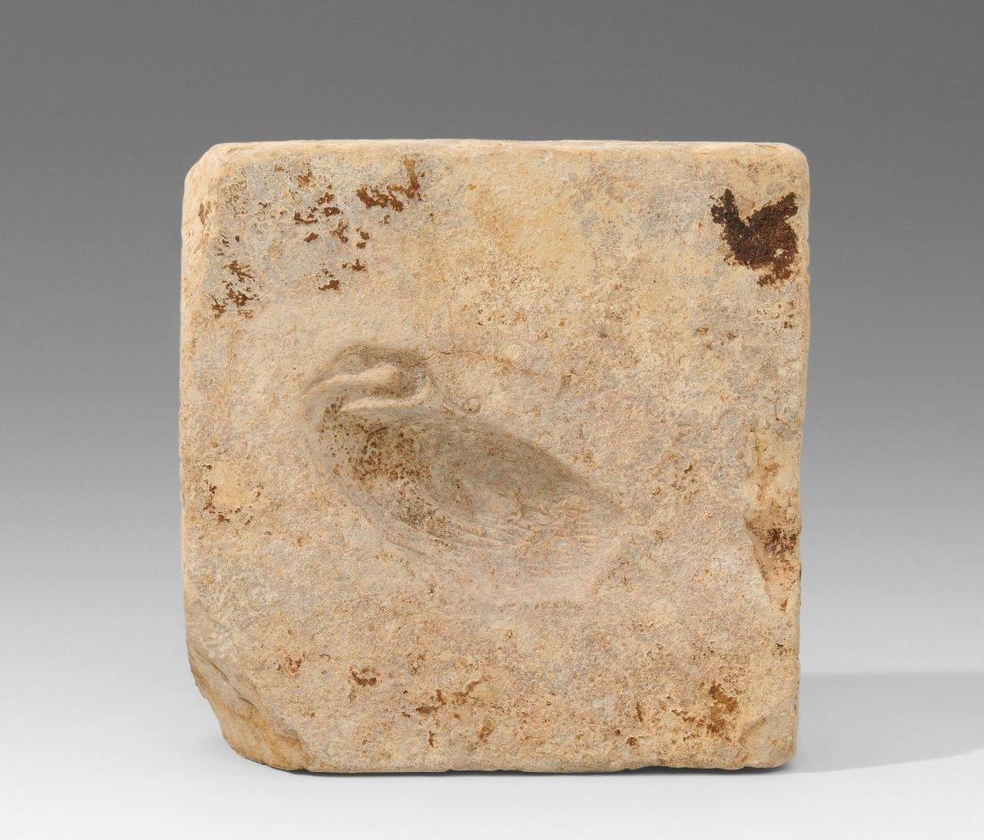 Giessform Ägypten, Spätzeit. Kalkstein. Giessform