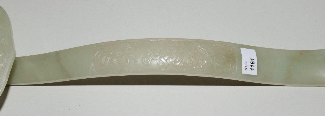 Zepter China, 20.Jh. Celadongrüne Jade. Grosse - 3