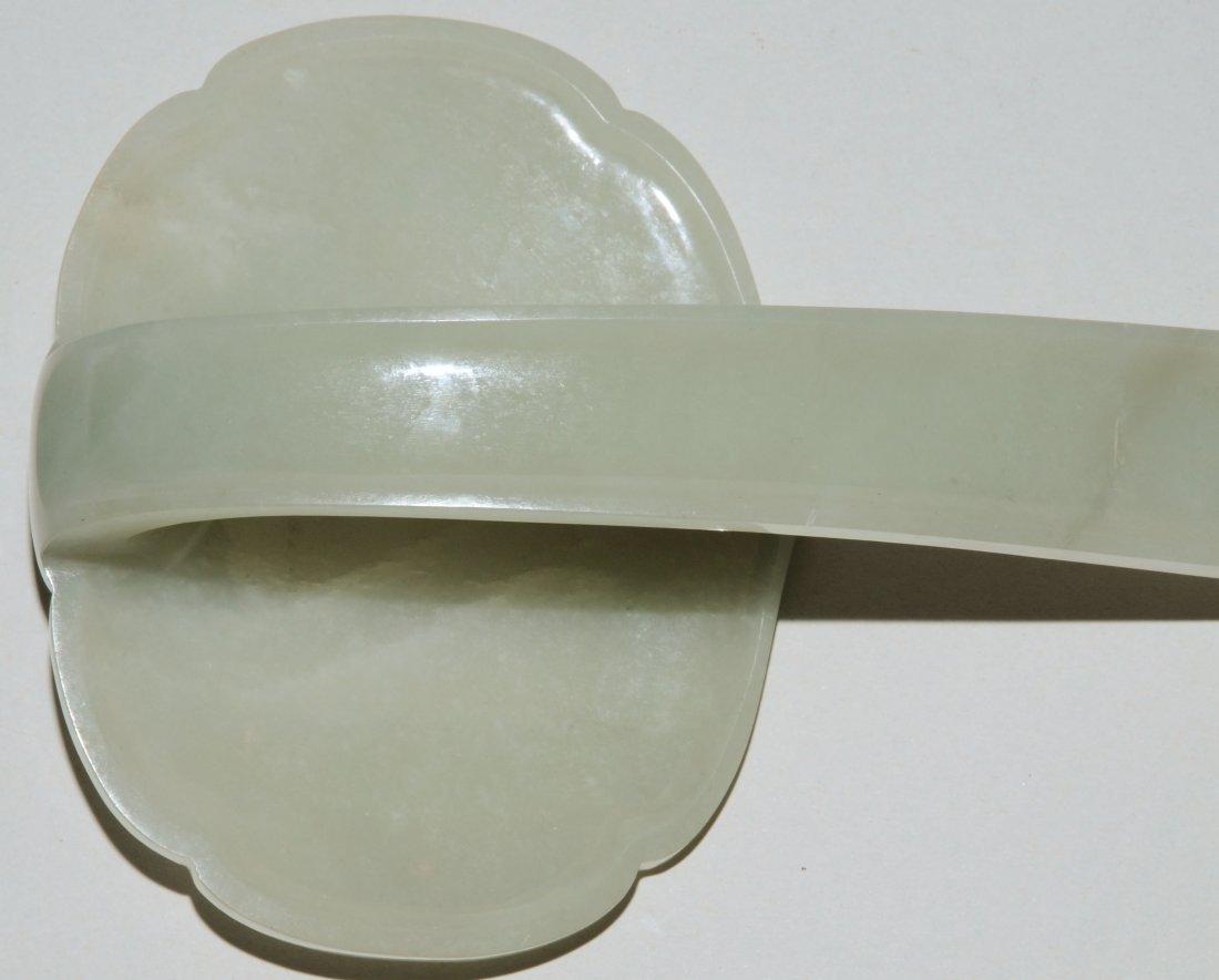 Zepter China, 20.Jh. Celadongrüne Jade. Grosse - 5
