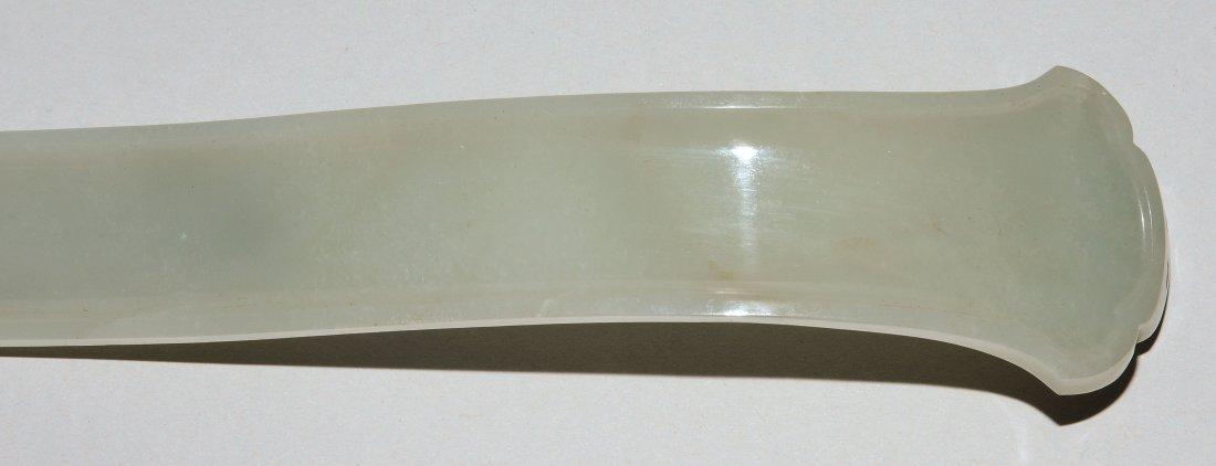 Zepter China, 20.Jh. Celadongrüne Jade. Grosse - 7