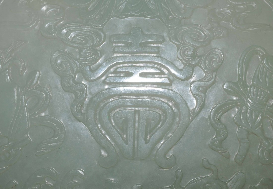 Zepter China, 20.Jh. Celadongrüne Jade. Grosse - 8