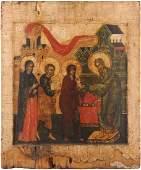 Darbringung Christi im Tempel Russisch um 1700 mit