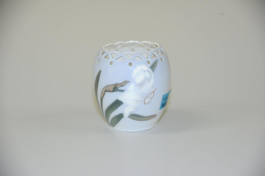 Kleine Vase, Royal Copenhagen, 20.Jh. Porzellan, Rand