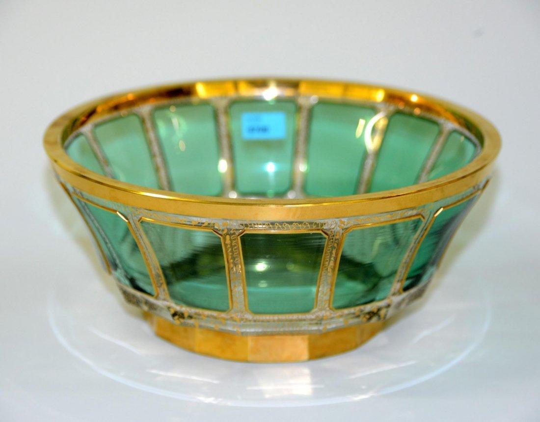 Schale, Böhmen, Anfang 20.Jh. Farbloses Kristallglas,