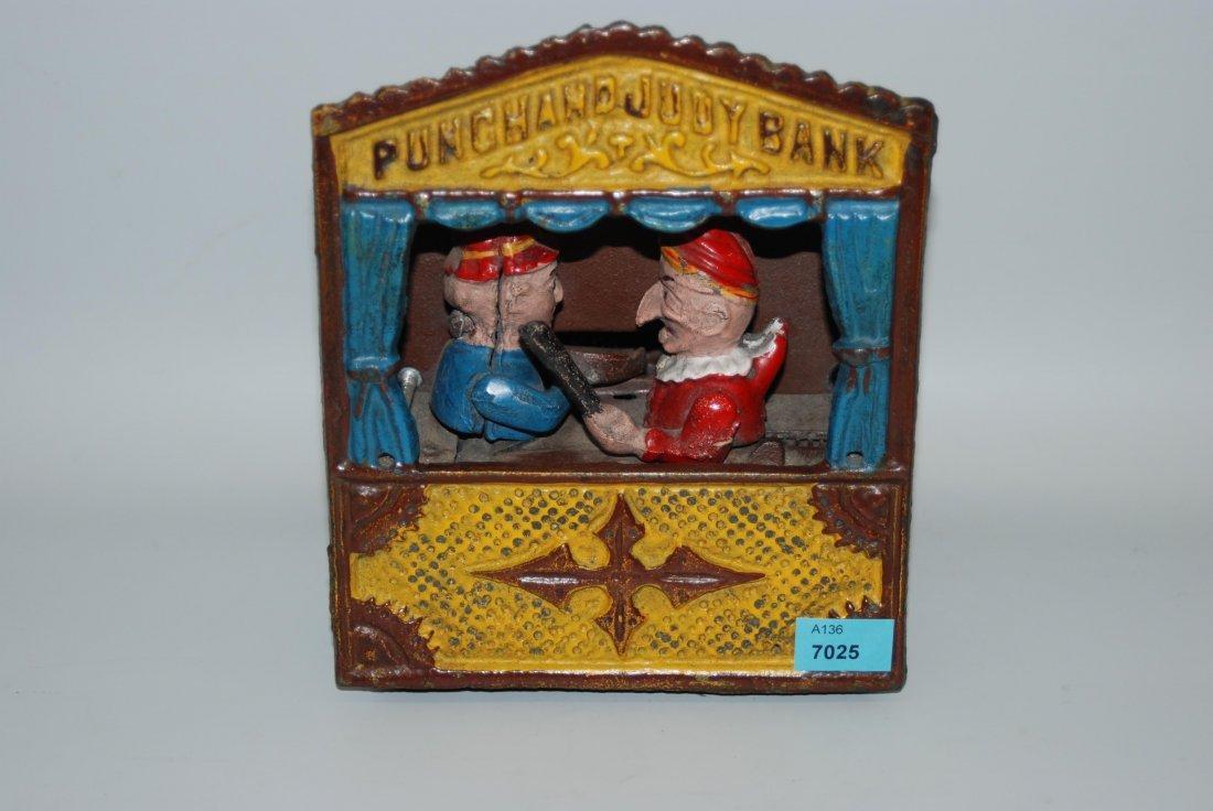 """Mechanische Spardose USA, 1950/60er Jahre. """"Punch and"""