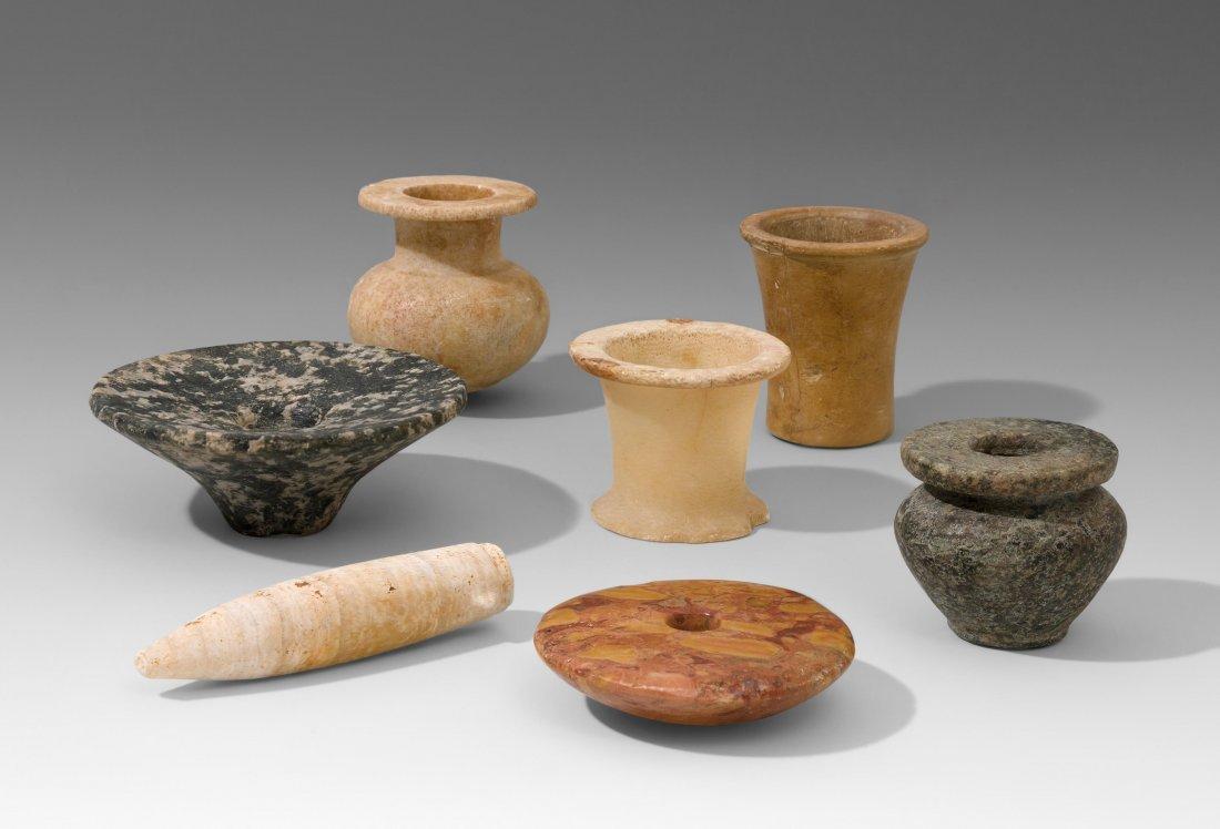Lot: 7 Steinobjekte Aegypten, prädynastisch–Neues