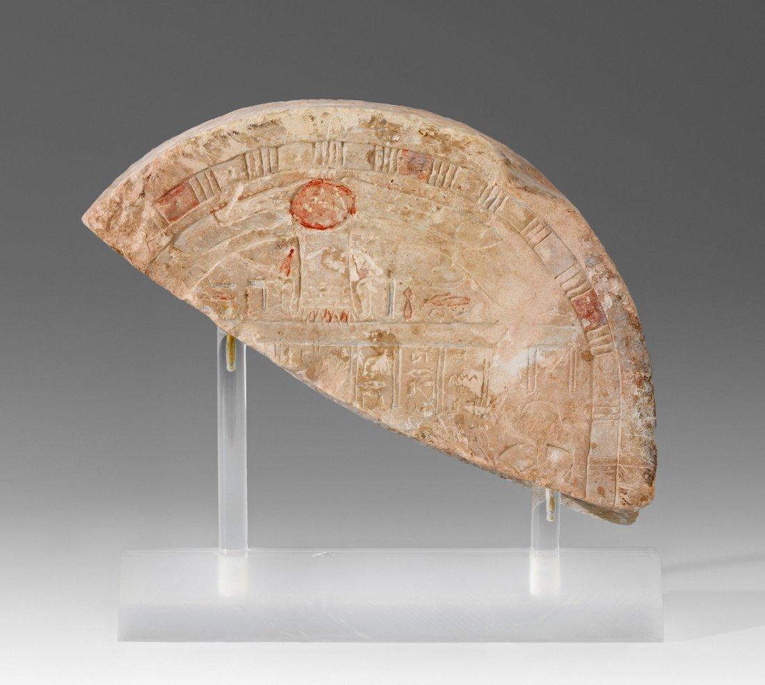 Fragment einer Grabstele Aegypten, Neues Reich.