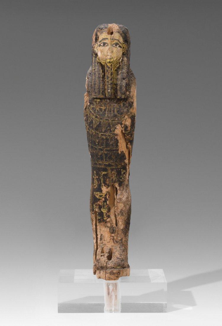 Ptah-Sokar-Osiris Aegypten, Spätzeit. Holz, schwarz,
