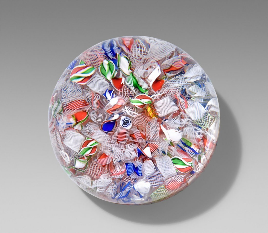 Paperweight, Baccarat, Mitte 19.Jh. Farbloses