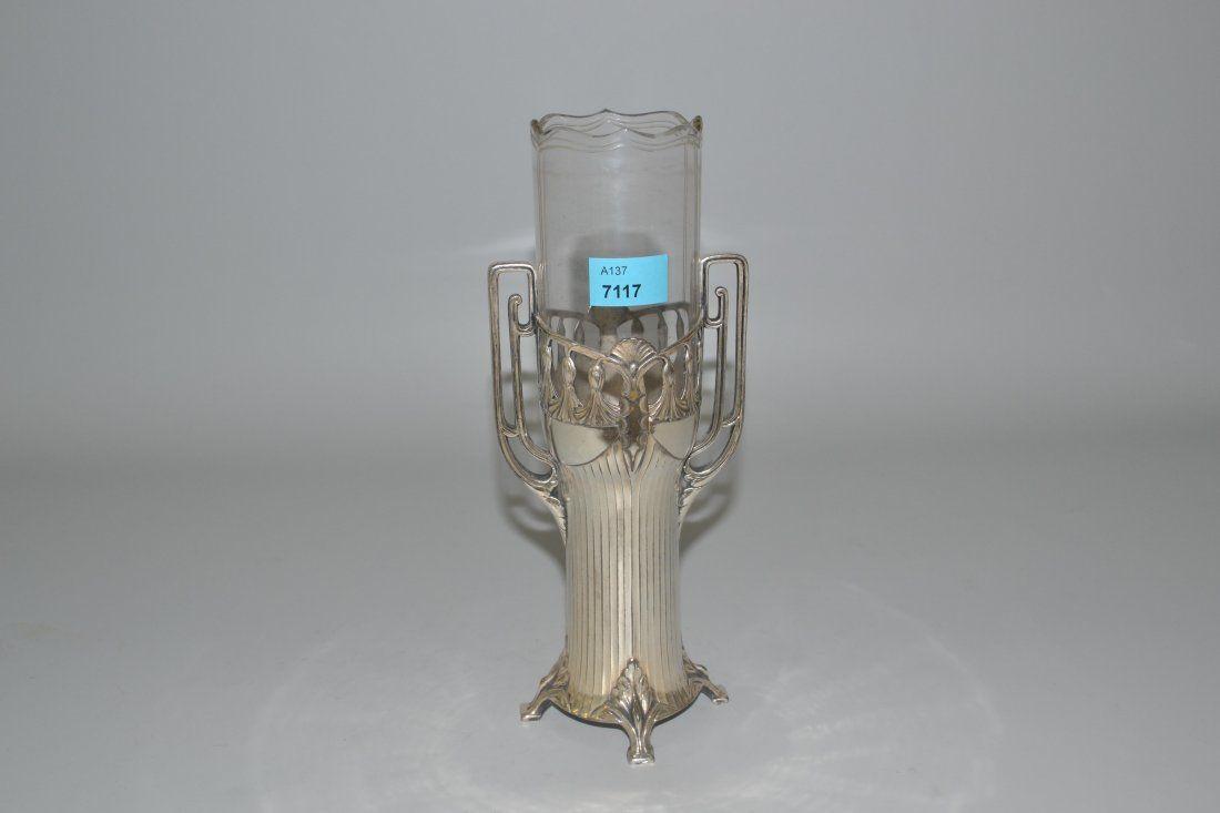 Vase, WMF Geislingen, um 1900 Versilberterte Montur,