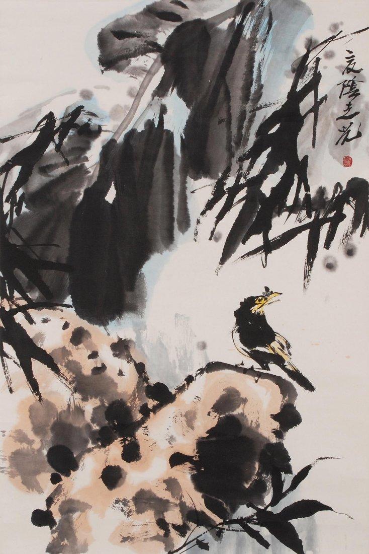 Guo Zhiguang (Geb.1942), zugeschrieben Rollbild. Tusche