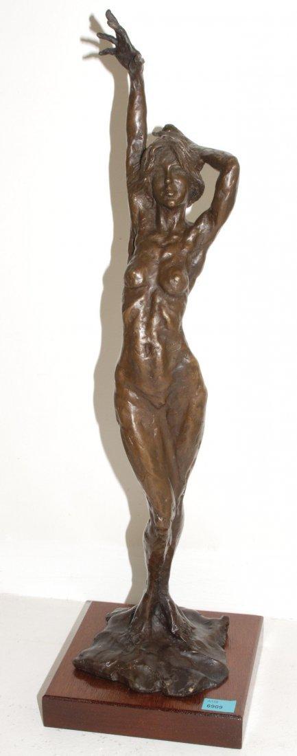 Anonym, 20.Jh. Stehender Frauenakt. Bronze. Höhe 51 auf