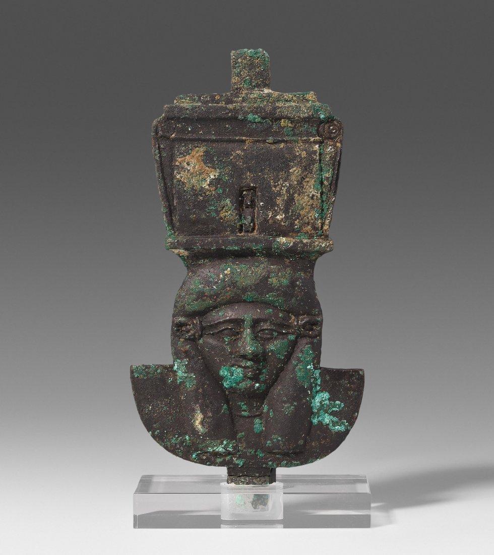 Bronze-Einlage Aegypten, ptolemäische Zeit, 300–100 v.