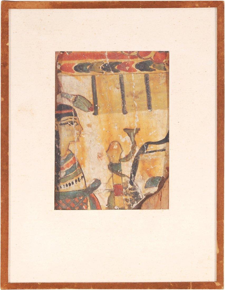 Kleines Sarkophagfragment Aegypten, 21. Dynastie. Holz,