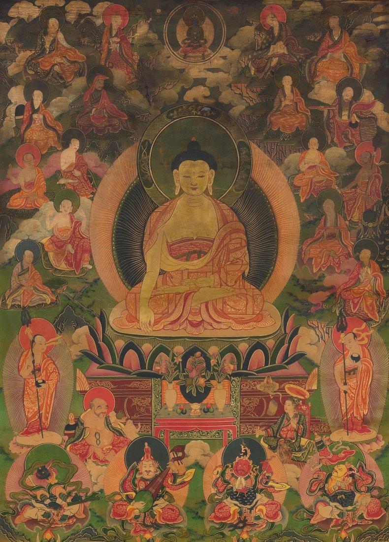 *Thangka des Buddha Shakyamuni Mongolei, 18./19.Jh.
